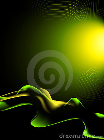 Green, yellow and black abstract background