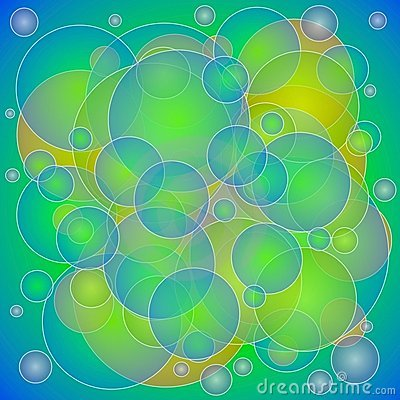 Green Yellow Circles Texture