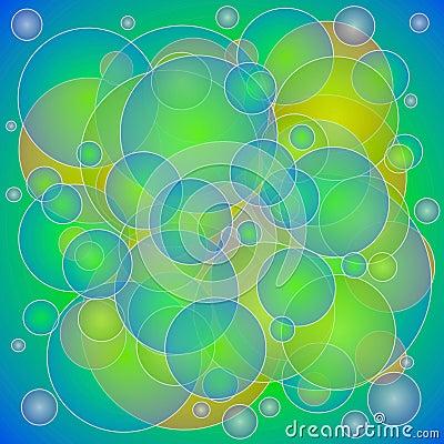 Green Yellow Circles Texture