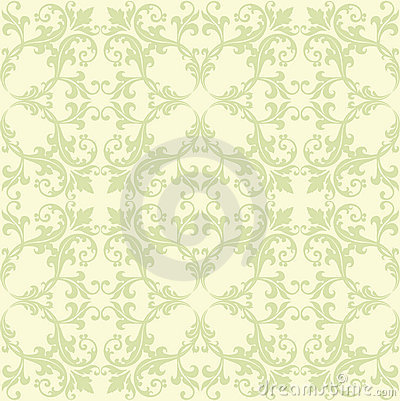 Green And Yellow Damask