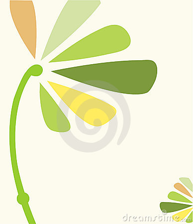 Green yellow floral template