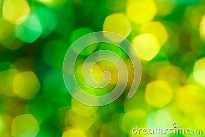 Green and yellow holiday bokeh
