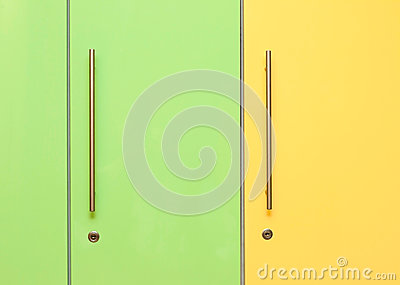Green and Yellow Lockers