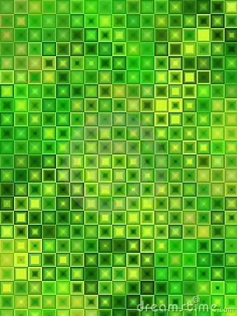 Green Yellow Mosaic Tiles