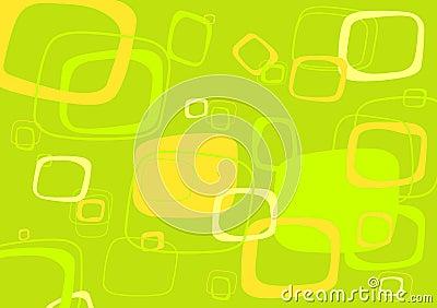 Green, yellow rectangle vector