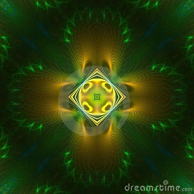 Green and Yellow Symmetrical