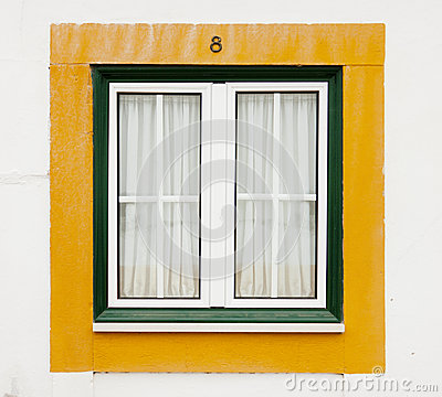 Green and yellow window