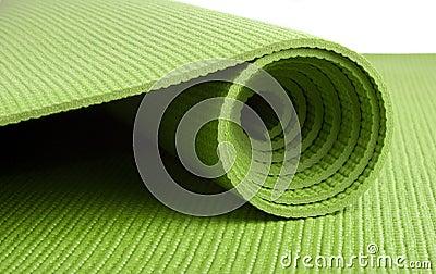 Green Yoga Mat Royalty Free Stock Photography Image