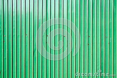Green zinc wall