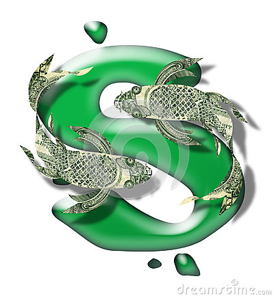 Greenback koi over dollar sign stock photo image 34406390 for Puddle of fish