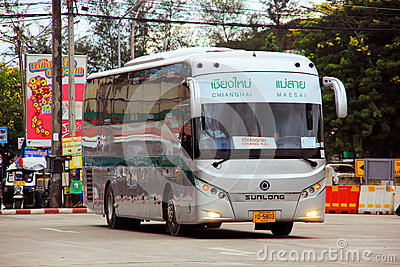 Greenbus chiang mai to maesai Editorial Image