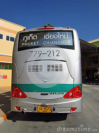 Greenbus chiang mai to phuket Editorial Stock Image