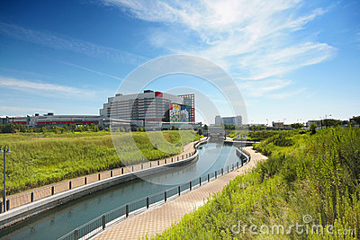 Greenery scene in Osaka, Japan Editorial Stock Image