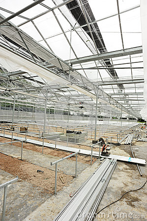 Greenhouse construction site