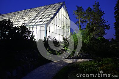 Greenhouse illuminated