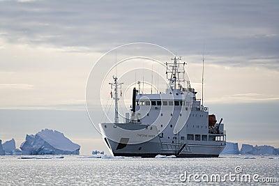 Greenland - Icebreaker in Scoresbysund Editorial Stock Photo