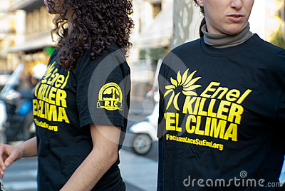 Greenpeace italy and enel Editorial Stock Image