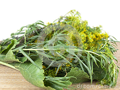 Greens for ferment of products