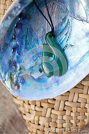 Greenstone - Jade Hook Pendant