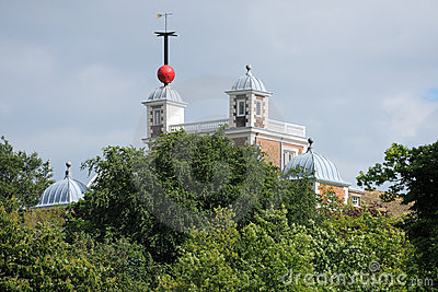 Greenwich Time Ball Flamsteed House, London Royalty Free Stock Images - Image: 9546749