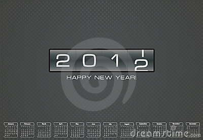 Greeting card for 2012 with bonus calendar