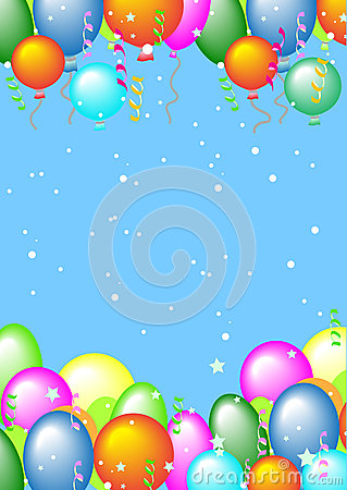 Greeting card with balls and place for text