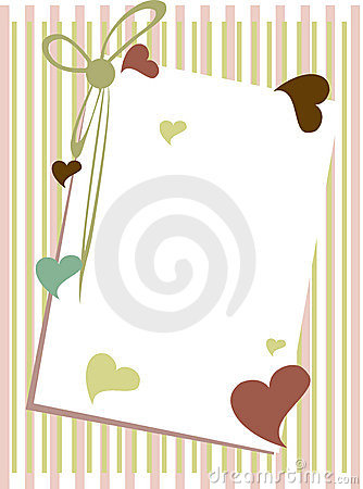 Greeting card with blank note.
