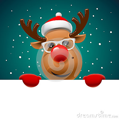 Free Greeting Card, Christmas Card With Reindeer Royalty Free Stock Photos - 62078208