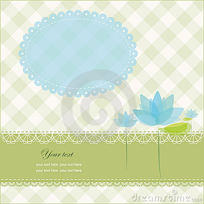 Greeting card with copy space and water lily