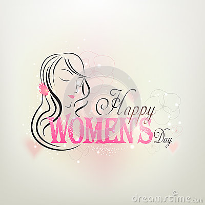 Free Greeting Card Design For International Womens Day Celebration. Stock Photos - 50078853