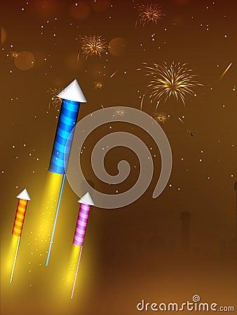 Greeting card for Diwali celebration