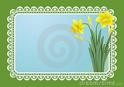 Greeting card with doffodils