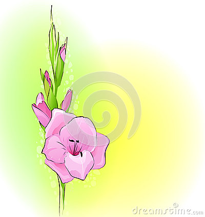 Greeting card with a flower