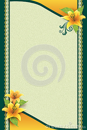 Greeting Card With Flower And Ornamental Background