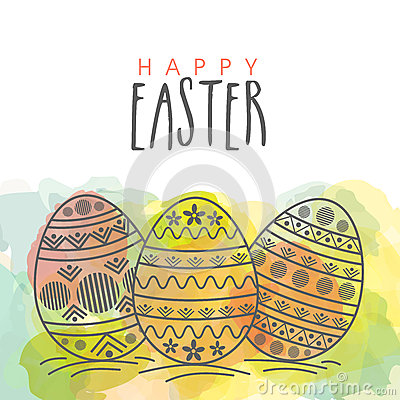 Free Greeting Card For Happy Easter Celebration. Royalty Free Stock Photography - 67629337