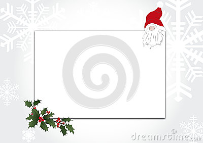 Greeting card with gnome