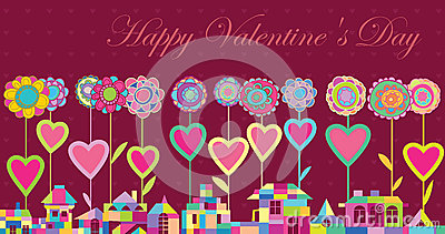 Greeting card Happy Valentines Day