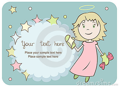 Greeting card with a little angel