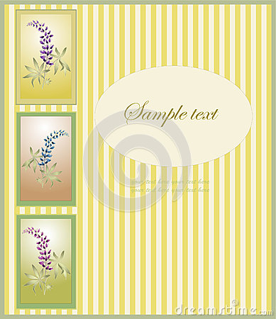 Greeting card with lupine .