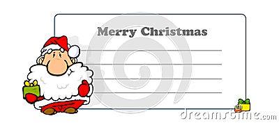 Greeting card on Merry Christmas