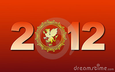 Greeting card with new 2012