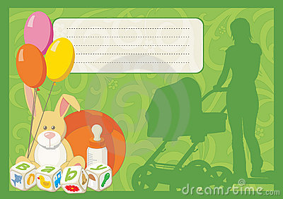 Greeting card for a new born child