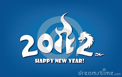 Greeting card for New year 2012 celebration