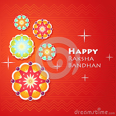Greeting card for Raksha Bandhan Cartoon Illustration