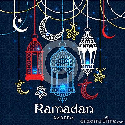 Greeting Card Ramadan Kareem Vector Illustration