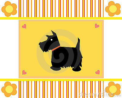 Greeting card Scottie dog