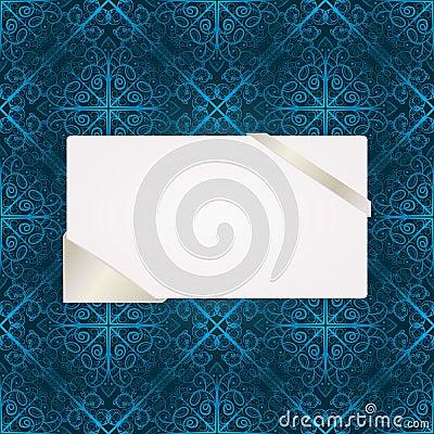 Greeting card on  seamless pattern