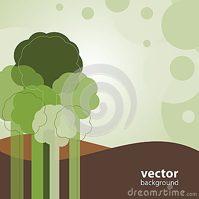 Greeting Card with Trees