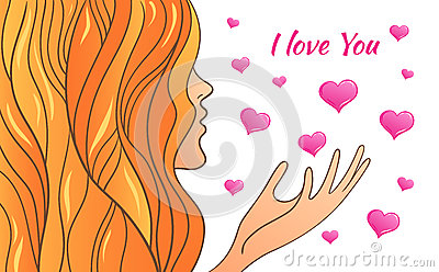 greeting card Valentine s Day Vector Illustration