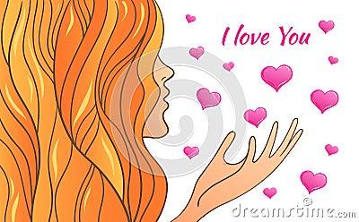 greeting card Valentine s Day Vector Illustration